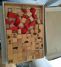 CHADWICK CASTLE WOODEN BLOCK BUILDING TOY SET 102 pieces vintage new