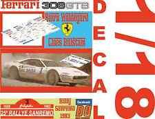 DECAL 1/18 FERRARI 308 GTB BJORN WALDEGARD RALLY SANREMO 1983 (04)