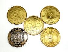 5 1970's HAWAII DOLLAR Hilo Big Island Kona Kauai Maui Honolulu Coin Medal Set