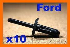 For Ford 10 black plastic blind rivets fasteners
