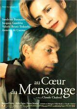 Affiche 40x60cm AU COEUR DU MENSONGE 1999 Claude Chabrol - Sandrine Bonnaire TBE
