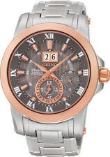 Stainless Steel Case Silver Seiko Premier Wristwatches