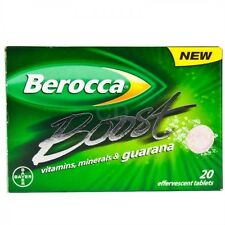Berocca Boost with guarana 20 effervescent tablets Free worldwide shipping 03/19