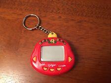 RakuRaku DinoKun Dinkie Dino Electronic Virtual Pet Red TK-910 Used Great Shape!