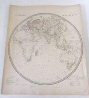 ORIGINAL 1833 SDUK Map Hand Colored Eastern Hemisphere