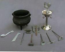 Tools Herramientas Ogun Ochosi Osun Iron Cauldron Caldero Guerrero Santeria Palo