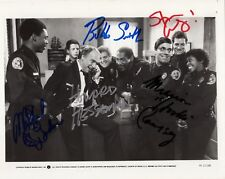 POLICE ACADEMY autographed 8x10 cast photo    5 SIGNED   Bubba Smith+Guettenberg
