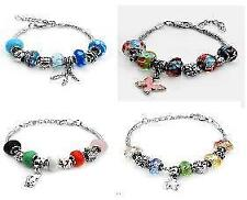 Glass Stainless Steel Fashion Bracelets