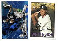 2 Card Lot -2018 Topps Chrome Sapphire #252 2016 Heritage RC Rookie TIM ANDERSON