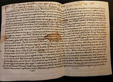 1255 - MEDIEVAL PARCHMENT LOUIS IX & INNOCENT IV ERA Handschriften auf Pergament