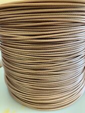 M17/113-RG316 Teflon JKT- Trans Brown Coax Cable 100 FT 25 AWG