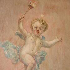 Fournier um 1880 - PUTTE Engel mit FACKEL IMPRESSION Engelchen Eros Amor