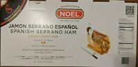 Noel Jamon Serrano Espanol Spanish cured ham. 14.3 lbs + stand+ knife=DELICIOUS!