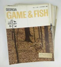 Vtg Lot of 40 Georgia Game And Fish Magazines 1966-1972 Hunting Outdoor Sports