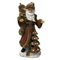 "Midwest of Cannon Falls? 12.5"" Tall Santa Claus Holding Child Christmas Tree Fig"