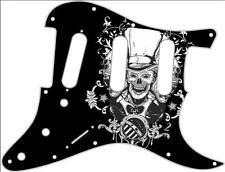 Stratocaster Strat Pickguard Fender SSS 11 Hole Guitar Pick Guard Top Hat Skull
