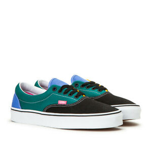 NEW VANS Era Mix & Match Colorblock Mens 9.5 Canvas Skate Shoe Blue Green Black