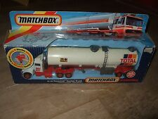 MATCHBOX SUPERKINGS TOTAL PETERBILT FUEL TANKER TRUCK K-127 DIECAST 1986 BOXED