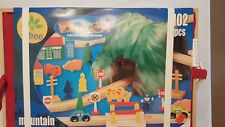 Life Tree Mountain Railway Set 102 Wooden Pieces New in Original packaging/Box