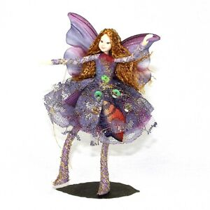 Fairy Figurine Paradisa: Ethically made, Posable Fairy with Stand. Tassie Design