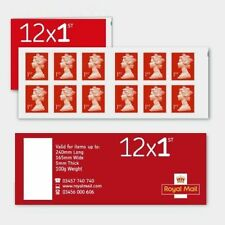 New Royal Mail 1st Class Stamps Book of 12 Sheet Self Adhesive Stamp