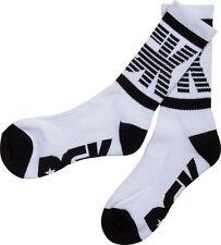 DGK Men's Balanced Crew Socks White Lifestyle Skate Streetwear Clothing