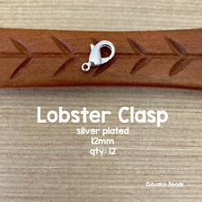 Lobster Clasps - Silver Plated Lobster Clasp - 12mm - 12 Pieces