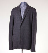 NWT $995 Z ZEGNA Charcoal Deconstructed Jersey Wool Blazer Slim 44 R Sport Coat