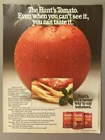 1984 Magazine Advertisement Page Hunt's Tomato Sauce Whole Tomatoes Paste Ad
