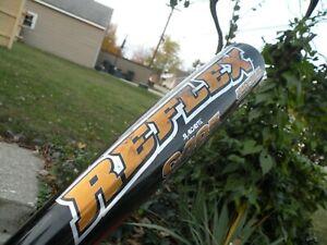 EASTON REFLEX  C405    GOLD    2 3/4  barrell   -5  baseball bat 33/28 ultra