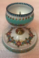 Handpainted Floral Enamel Over Metal Table Bell Made In Austria Studio Steinbock