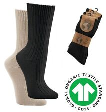 3 Paar Socken 100% Bio-Baumwolle Herren Damen Bio Baumwolle Socken schwarz natur