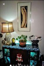 VINTAGE ORIG.JOHN LUKE EASTMAN Expressionist Framed Watercolor & Ink on Board