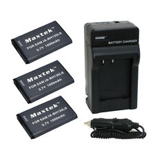 3 x IA-BH130 Battery + Charger for Samsung HMX-W190 W200 W300 W350 SMX-C100 C200