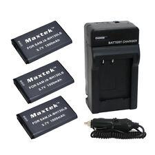 3 x IA-BH130 Battery + Charger for Samsung HMX-W190 W200 W300 W350 SMX-C100 C200