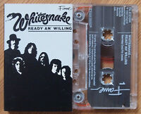 WHITESNAKE - READY AN' WILLING (FAME FA4131344) 1990s CASSETTE REISSUE HARD ROCK