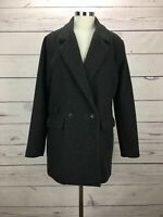 Abercrombie Fitch Women's Size L Wool Blazer Coat Gray Jacket NWT