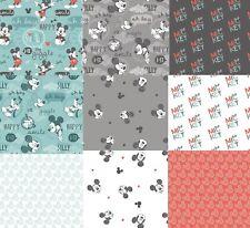Disney Mickey Mouse Fabric Cotton Craft Fabric Nursery Boys Room Fabric