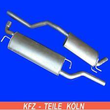 Fiat Multipla 1.6 16V Bipower / Blupower Mittelschalldämpfer + Endschalldämpfer