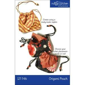 """INDYGO JUNCTION """"ORIGAMI POUCH IJ1146"""" Sewing Pattern"""