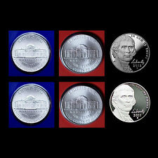 2011  2012 P+D+S Jefferson Nickel Set ~ Proof and PD in Original Mint Wrappers