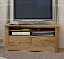 Vermont solid oak furniture small television cabinet stand unit
