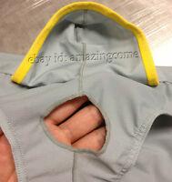 New Men Breathable Boxer Brief Bottoms Underwear Penis Hole Sports Pouch Briefs