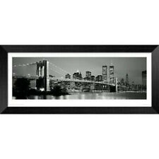 New York Skyline Cityscape Large Framed Panoramic Photo.