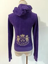 Juicy Couture Hoodie Purple Velour Size S