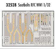 Eduard 1/32 cinturones de seguridad RFC primera guerra mundial pre-pintado en color! # 32528