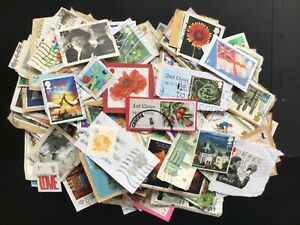 GB stamps kiloware, 50gm, commemoratives to 2016, on/off paper, mainly on