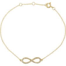 "Diamond Infinity-Style 8"" Bracelet In 14K Yellow Gold (1/6 ct. tw.)"