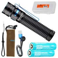 Olight Baton Pro 2000 Lumen Rechargeable LED Flashlight + Spare Battery and Case