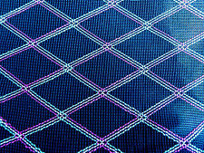 1 Yard Diamond Grill Cloth Fabric Black & Red/White/Green For Dumble VOX
